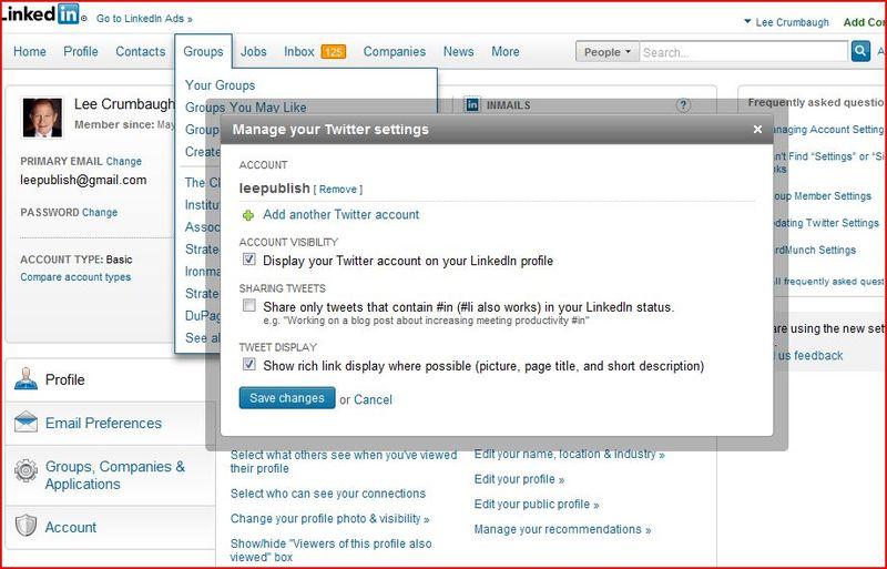 Tweet options