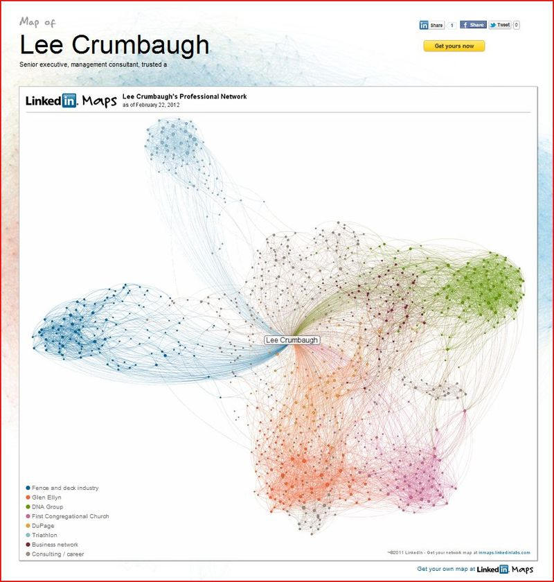 Lee LinkedIn map