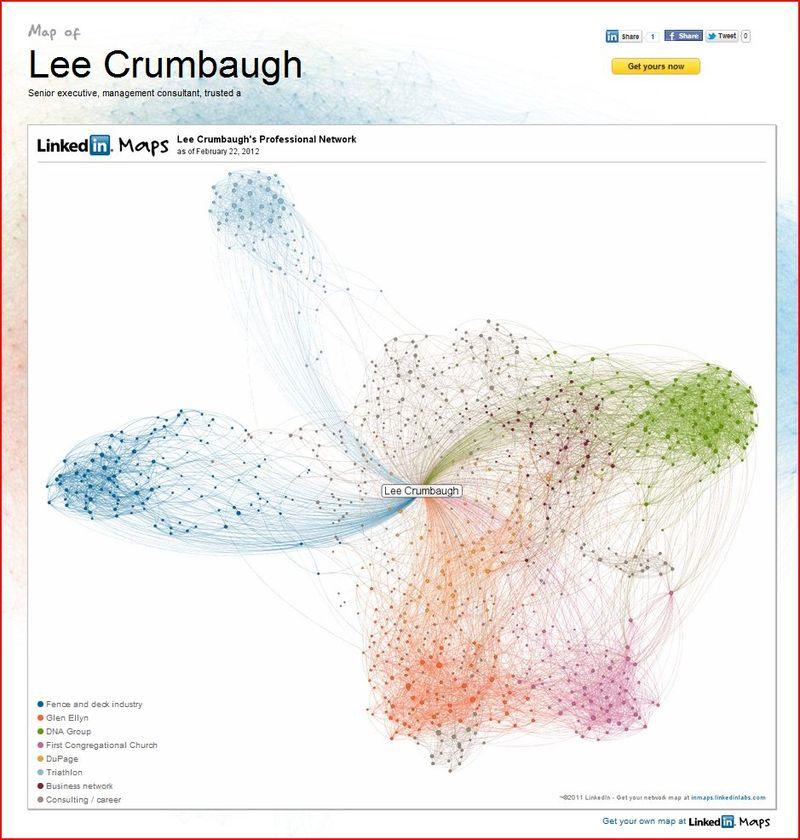 Lee LinkedIn map