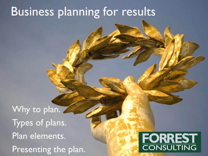 Business planning and presenting the plan