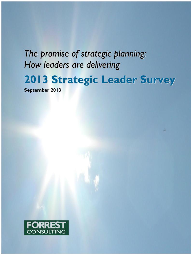 2013 Strategic Leader Survey results